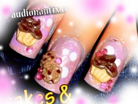 Sweets: *Cupcakes & Cookies* 3D Acrylic Nail Art Design Tutorial