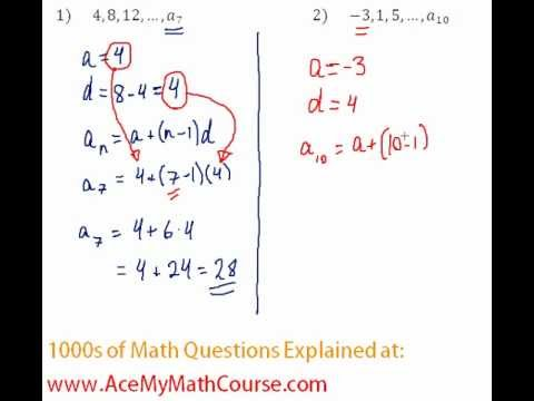 Arithmetic Sequences - Finding the Given Term Question #2