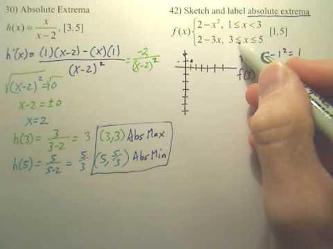 3.1 Absolute Extema Practice p2 - Calculus