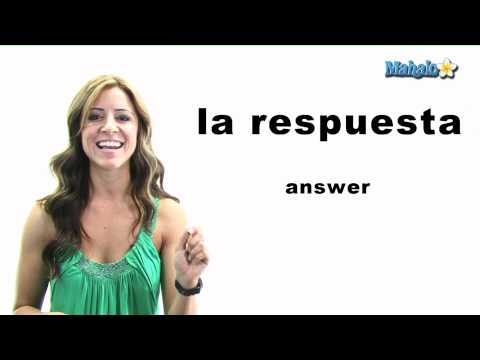 "How to Say ""Answer"" in Spanish"