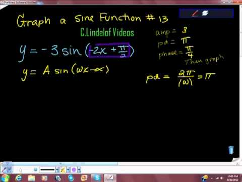 Graphing a Sine Function Thirteen