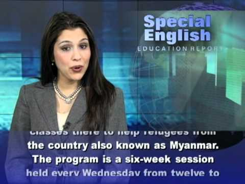 A Community Helps Burmese Refugees Learn English