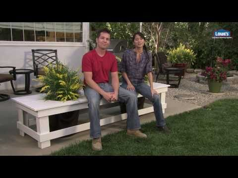 How to Build an Outdoor Planter Bench