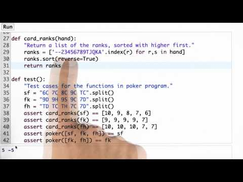 Fixing Card Rank Solution - CS212 Unit 1 - Udacity