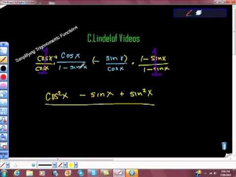 Simplifying Trigonometric Functions Equations