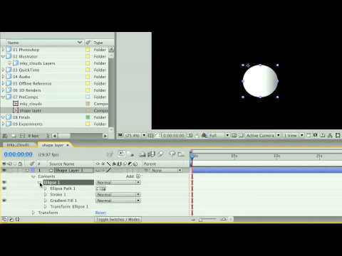 Total Training for Adobe After Effects CS3 Essentials Ch1 L3 Introducing the Shape Layer