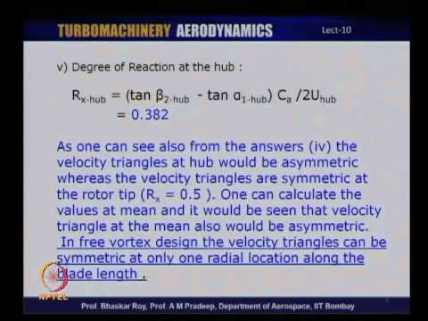Mod-01 Lec-10 Tutorial 2: Three Dimensional Axial Flow Compressors