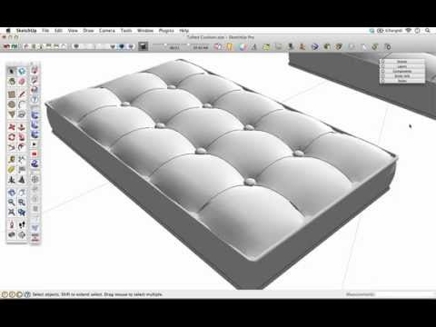 The SketchUp Show #65: Modeling a Tufted Cushion