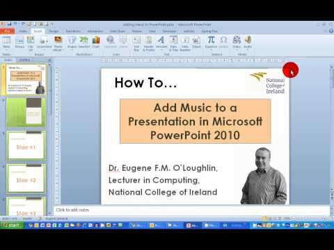 How To...Add Music to a Presentation in PowerPoint 2010