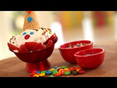 Clown Face Ice Cream Sundae Recipe Make It (How to) || KIN Parents