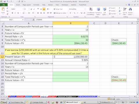 Excel Finance Class 25: Future Value For Lender Or Borrower