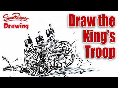 How to draw the King's troop gun salute  - Spoken Tutorial