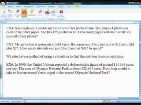 Algebra One Section 1.2