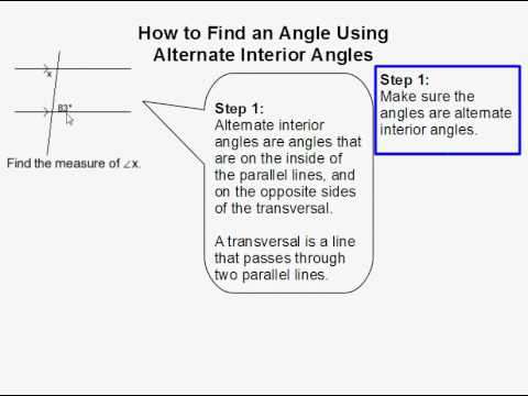 How to Find an Angle Using Alternate Interior Angles