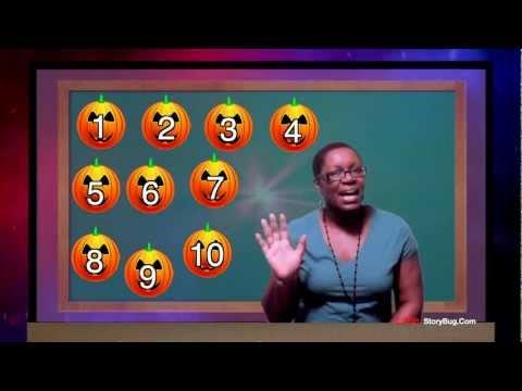 Preschool Learning - Counting Pumpkins - Littlestorybug