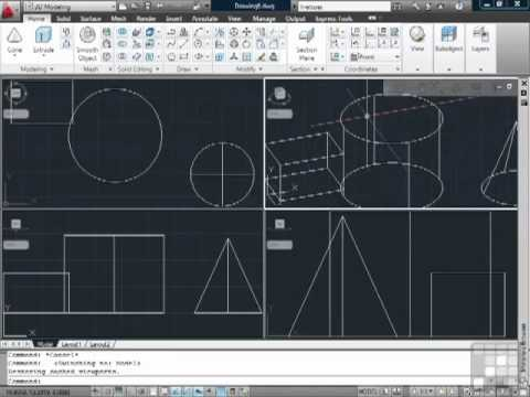 AutoCAD Into to 3D Modelling in CAD