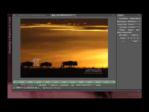 Performing a motion track in After Effects | lynda.com tutorial