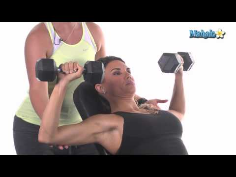 How to Do an Inclined Chest Press with Dumbbells