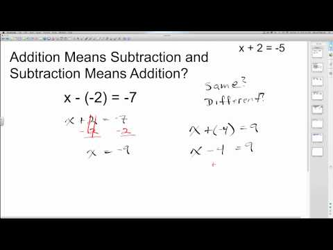 Solving One-Step Equations with Addition and Subtraction | Algebra How To Help