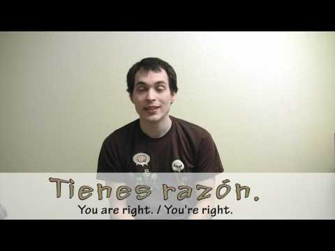 La Frase del Día - Día cuarenta y tres - you're right!