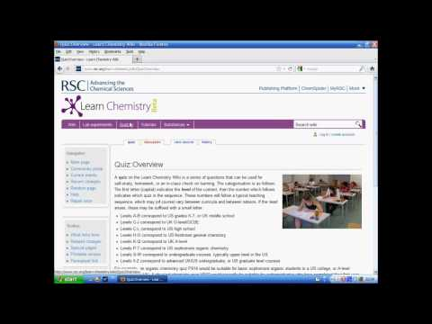 Learn Chemistry Wiki Site Tour (Jan 2012)