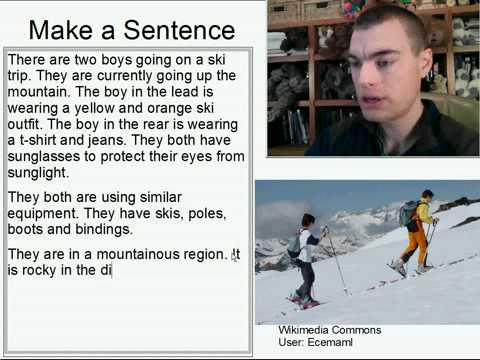 Learn English Make a Sentence and Pronunciation Lesson 96: Ski Trip