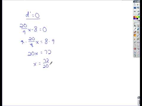 Calculus - Applications of the First Derivative (Max/Min)