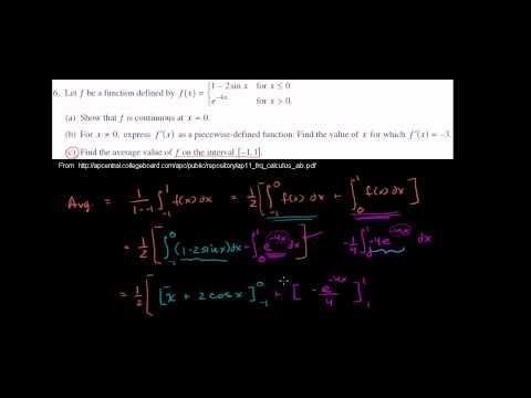 2011 Calculus AB Free Response #6c
