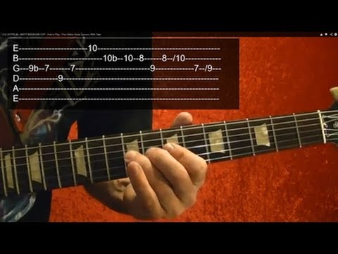 SUPER MARIO BROTHERS Theme Guitar Lesson, WITH TABS