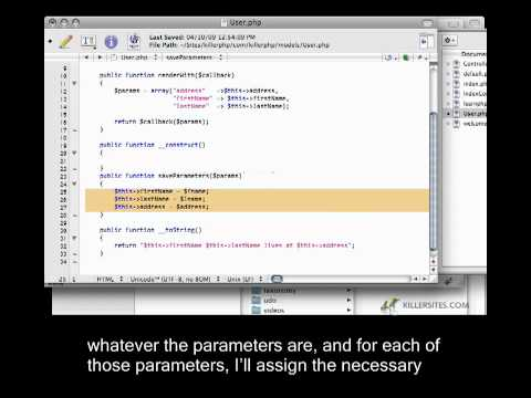 Advanced PHP Closed Captioned - Dynamic Property Assignment