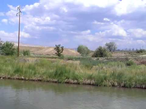 Floating Wooden Boats along the Grand Valley Canals, Grand Junction Colorado