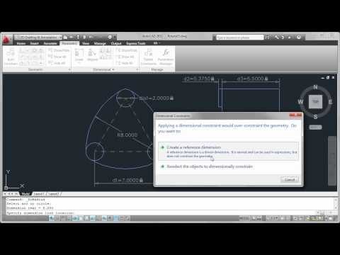 Dimensional Constraints in AutoCAD 2011