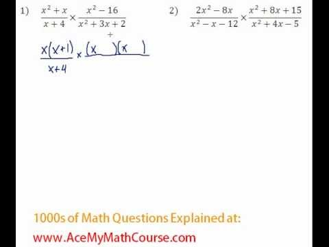 Rationals - Multiplying & Dividing Rationals Question #1