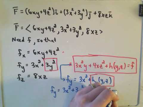 Finding the Potential of a Conservative Vector Field / Ex 2