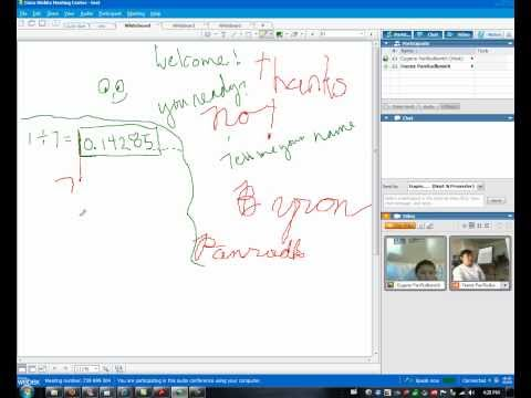 Dr Pan teaches long division online to a 4th grader