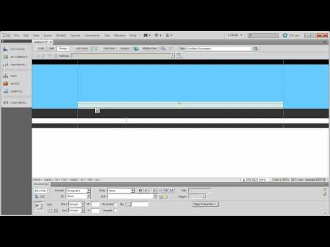 Working with Table Based Layouts in Dreamweaver CS5 - Part 4