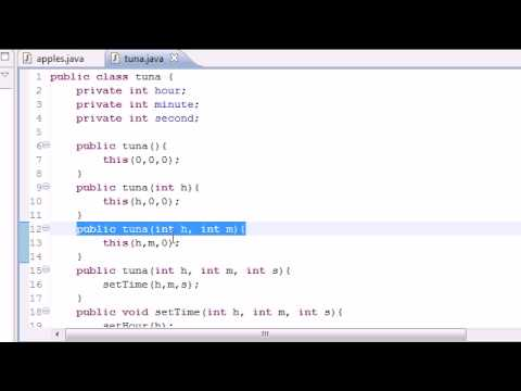 Java Programming Tutorial - 41 - Building Objects for Constructors