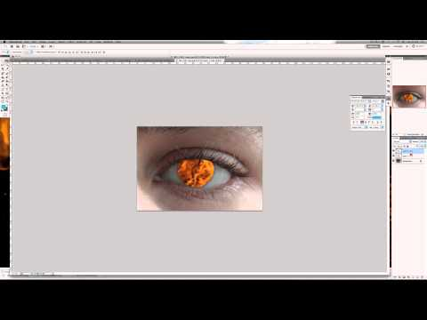 Photoshop CS5 Tutorial: How to Create an Evil Fire Eye Effect