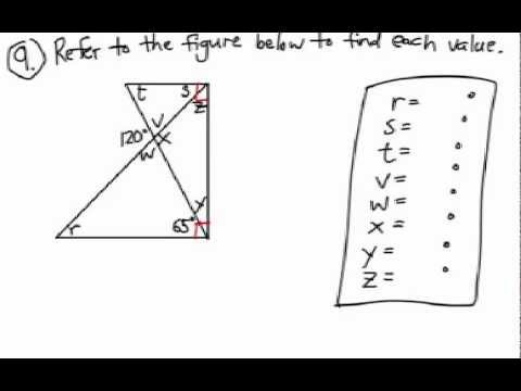 How to Find Angles: Multi-Triangle Diagram