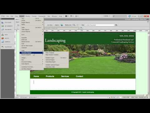 Creating a Dreamweaver page template from your design - Coyote Landscaping - Part 15