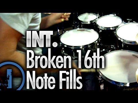 Broken 16th Note Drum Fills - Intermediate Drum Lessons