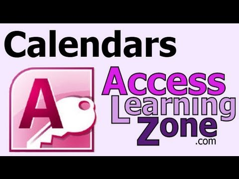Microsoft Access - Create Printable Monthly Calendars - Seminar Preview