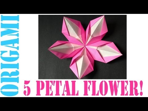 Origami Daily - 348: Modular 5 Petal Flower - TCGames [HD]