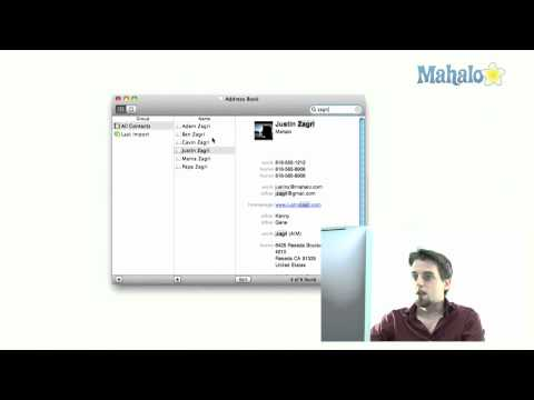 Address Book - Smart Groups from Search - How to use Mac OS Snow Leopard