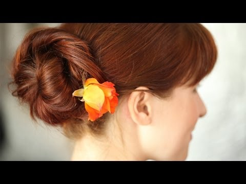 Easy Hairstyle: Loose Chignon How to Create It || KIN BEAUTY