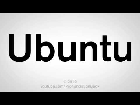 How To Pronounce Ubuntu