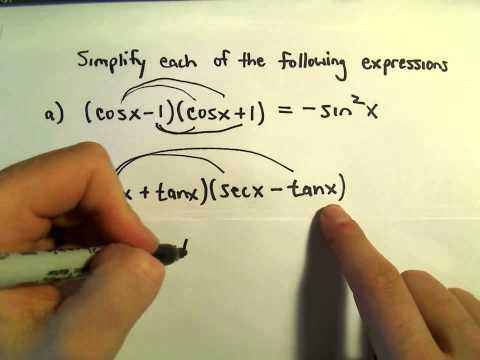 Simplifying Products of Binomials Involving Trigonometric Functions, Ex 1