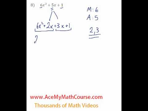 Polynomials - Factoring Trinomials (More Challenging) #8