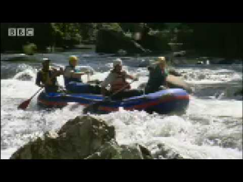 White Water Rafting: Man Overboard! - Ewan McGregor in the Jungle - BBC