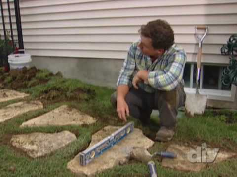 Stone Walkway Full Project-DIY